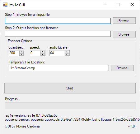 rav1e GUI 2018-10-22
