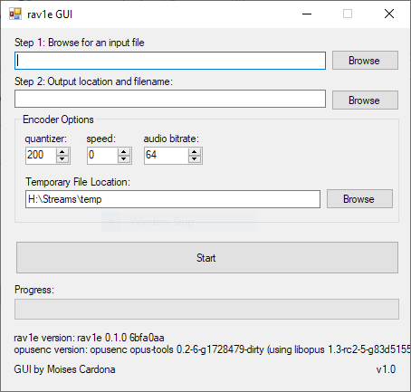 rav1e GUI 2018-10-23