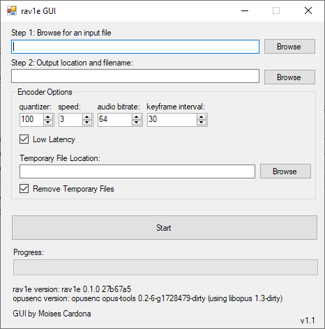 rav1e GUI V1.1