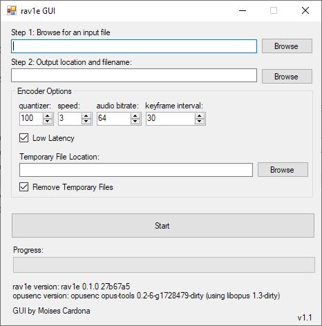 rav1e GUI V1.1