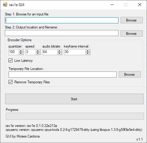 rav1e GUI 2018-11-08