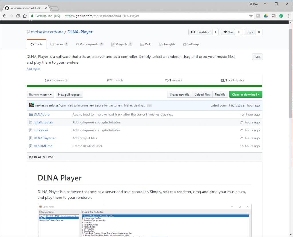 DLNA Player GitHub Repo