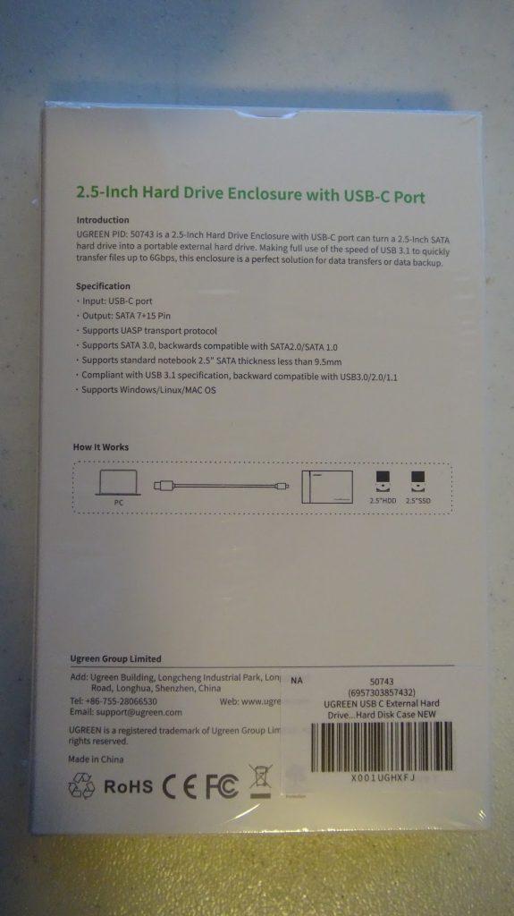 """UGREEN 2.5"""" a USB-C 2"""