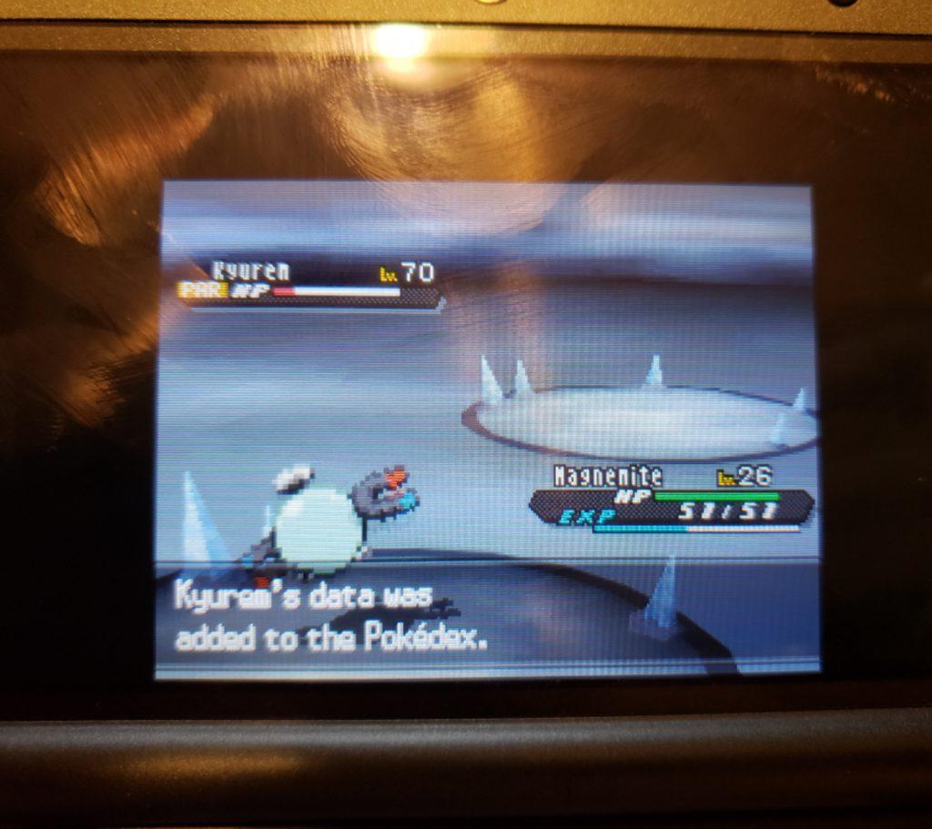 Pokemon Black 2 Caught Kyurem