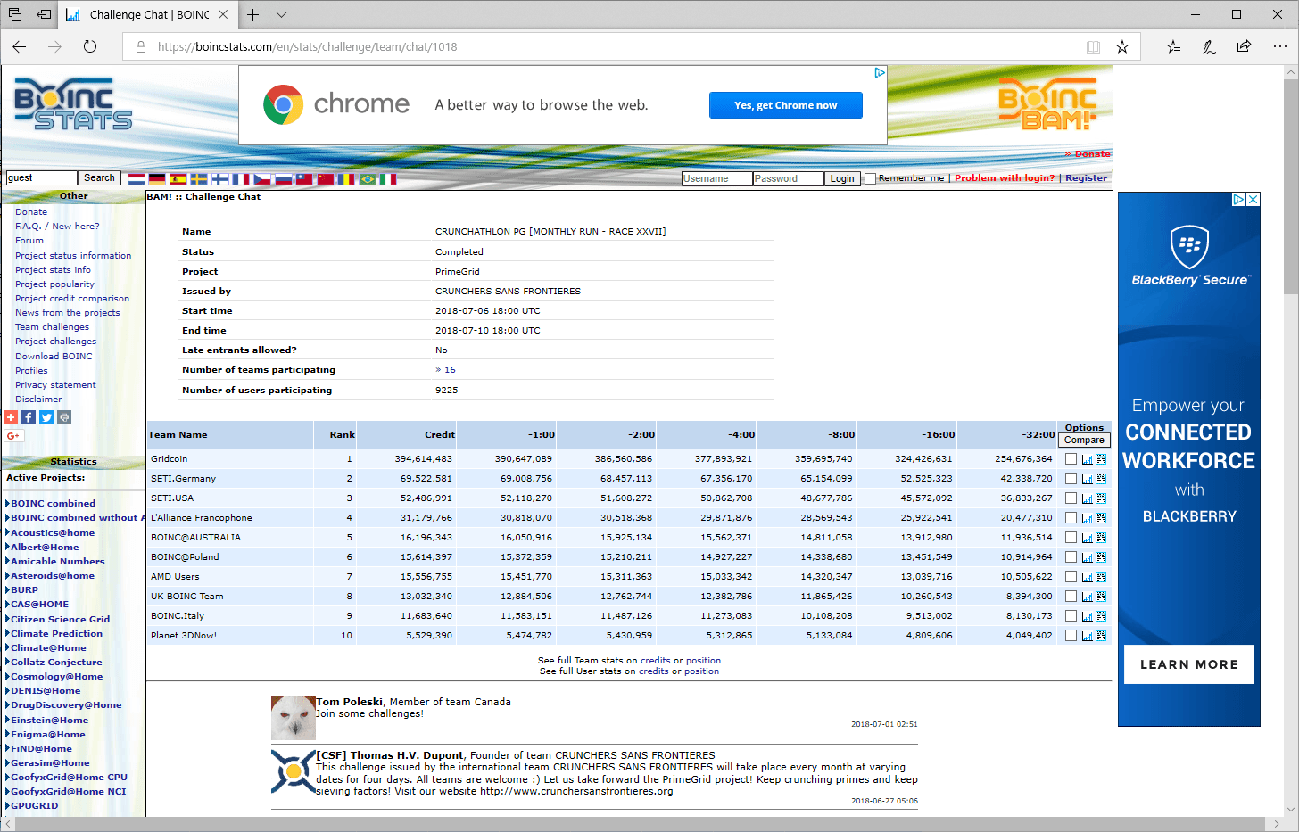 PrimeGrid challenge results