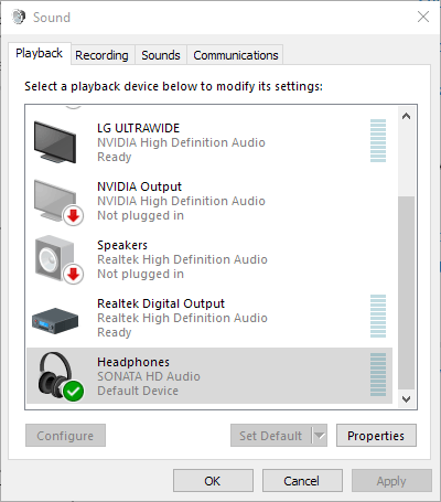 Hidizs Sonata HD Sound Settings 1