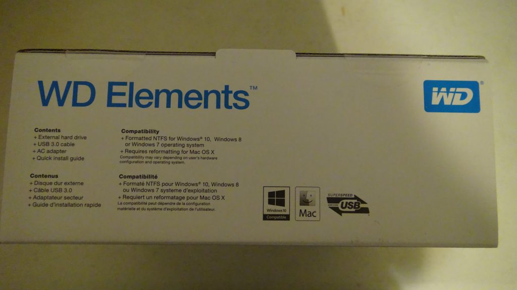 The Western Digital 10TB WD Elements External Hard Drive