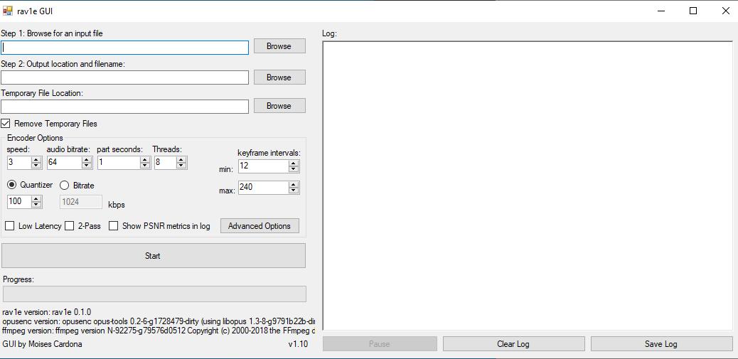 rav1e GUI v1.10