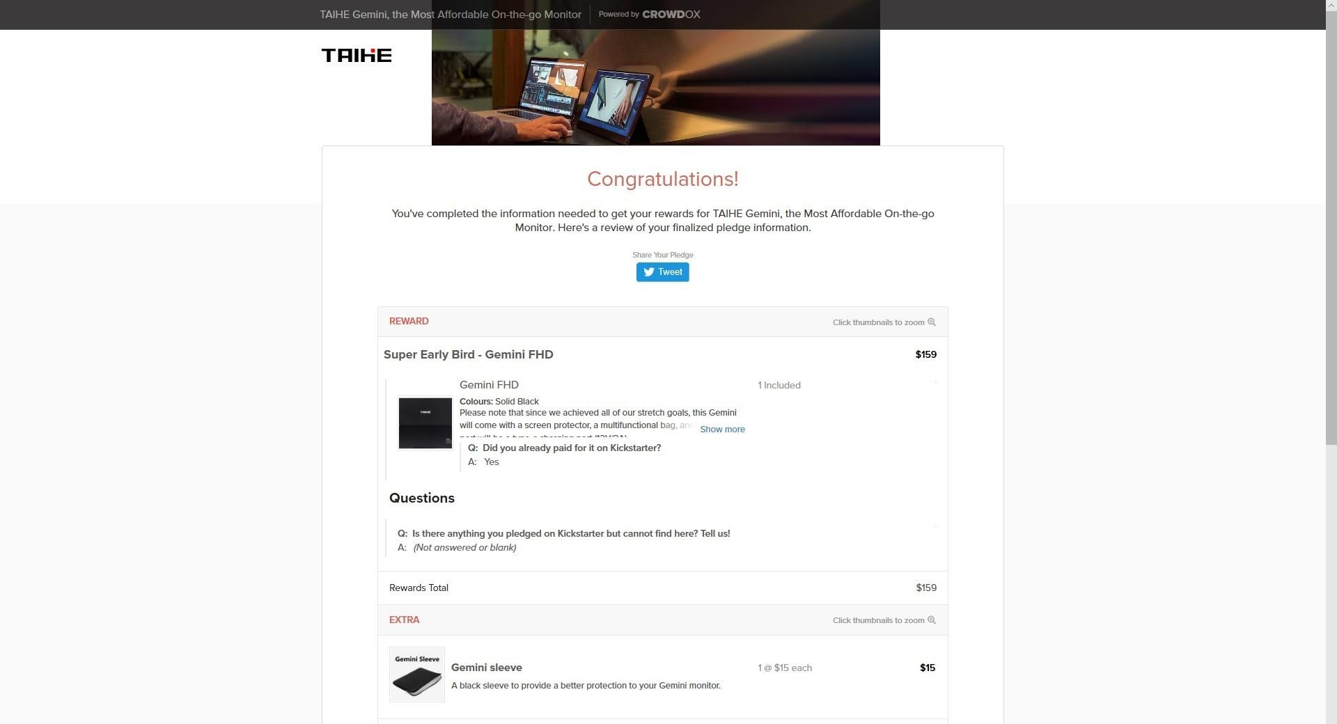 TAIHE Gemini - Step 10
