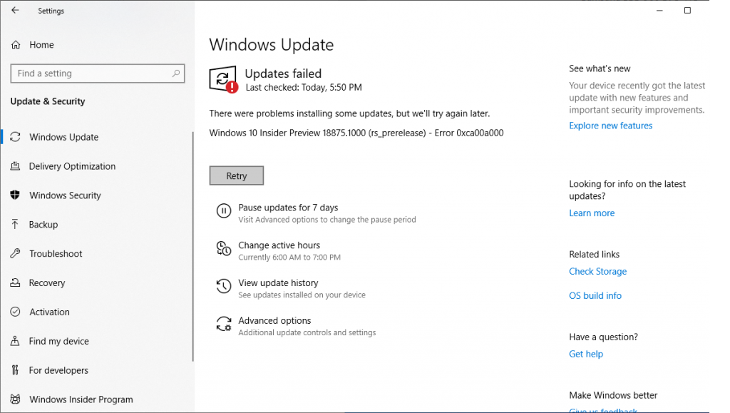 Installing Windows 10 Insider Preview 18875 12