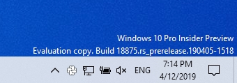 Installing Windows 10 Insider Preview 18875 18