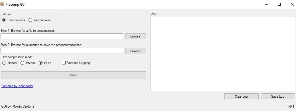 Precomp GUI v0.1