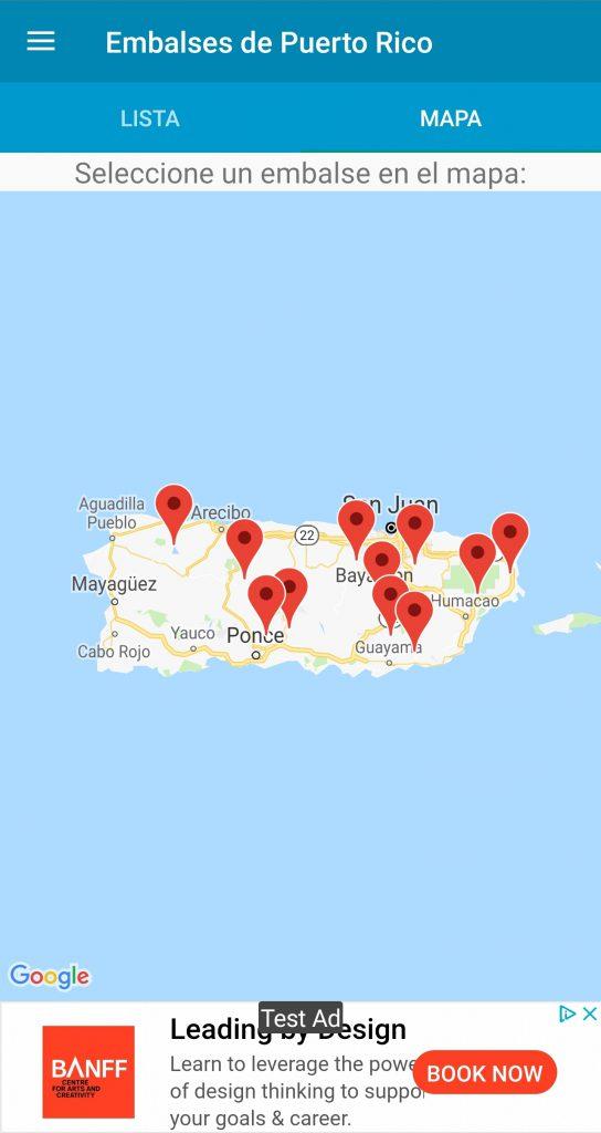 Mapa de los embalses - Embalses de Puerto Rico