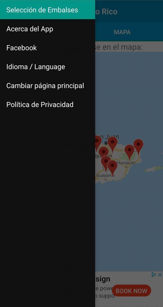 Menú Principal - Embalses de Puerto Rico