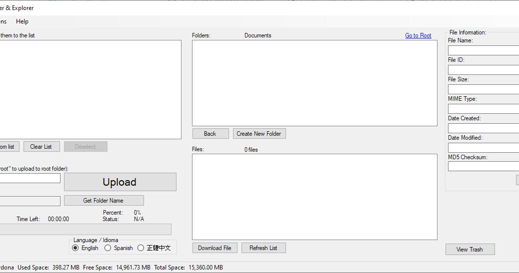 Google Drive Uploader & Explorer Tool v1.11