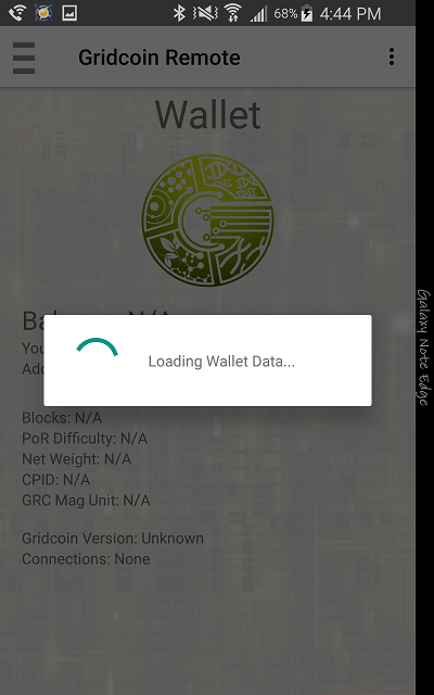 Gridcoin Remote Screenshot 2