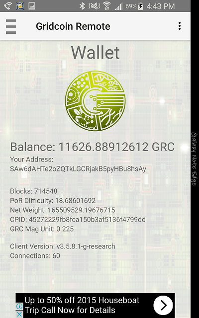 Gridcoin Remote Screenshot 3