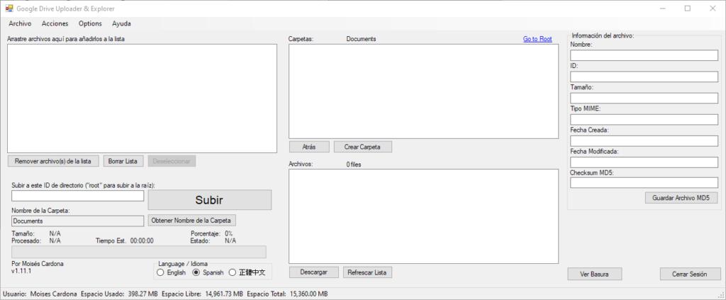 Google Drive Uploader & Explorer Tool v1.11.1