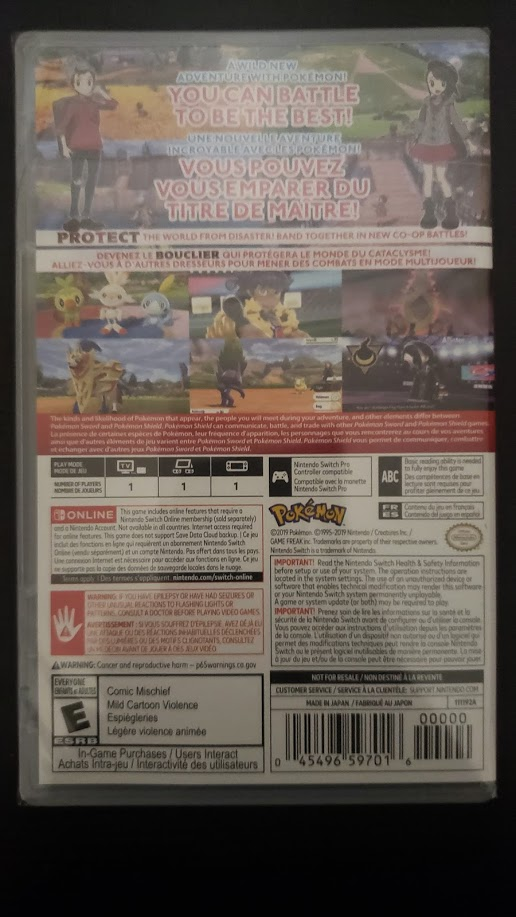 Pokémon Shield - Back
