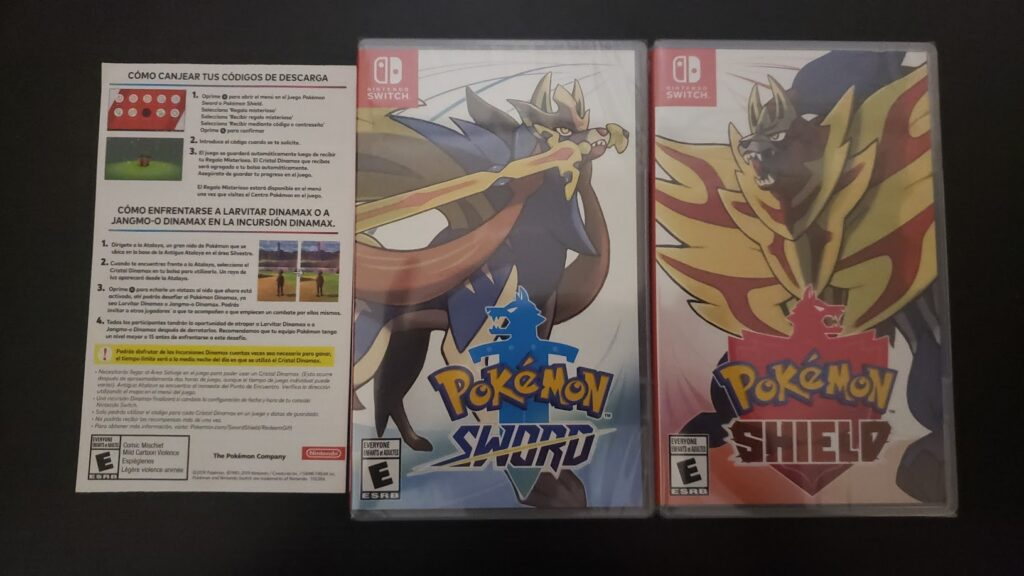 Pokémon Sword and Shield Double Pack - Desempacado