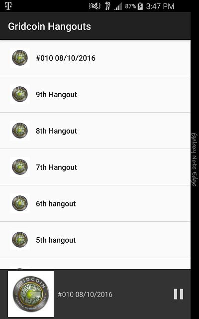 Gridcoin Hangouts app