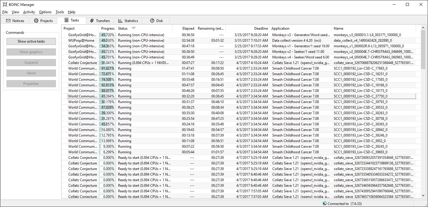 AMD Ryzen 7 1700 3.6Ghz BOINC