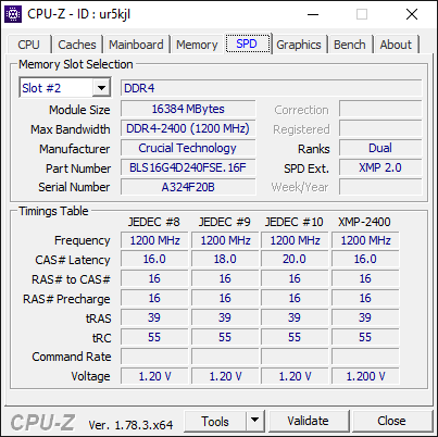 AMD Ryzen 7 1700 3.6Ghz CPU-Z CPU Information 4