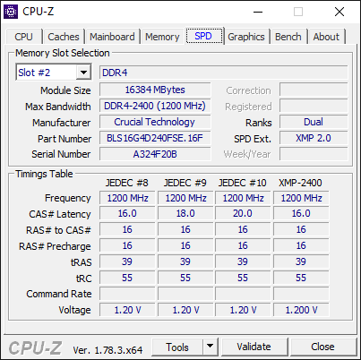 AMD Ryzen 7 1700 CPU-Z 3