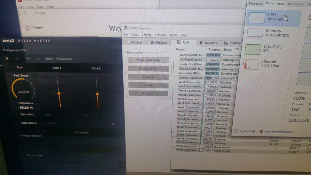 AMD Ryzen 7 1700 and BOINC