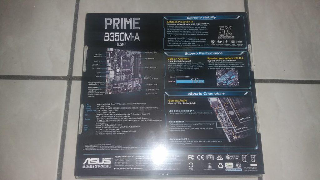 ASUS Prime B350M-A 3