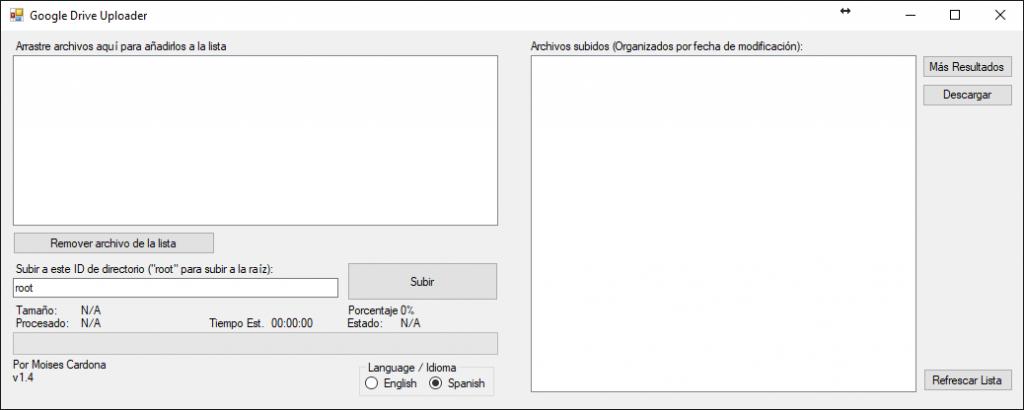 Google Drive Upload Tool v1.4 Spanish