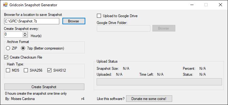 Gridcoin Snapshot Generator r4 - 7zip
