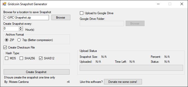 Gridcoin Snapshot Generator r4 - Zip