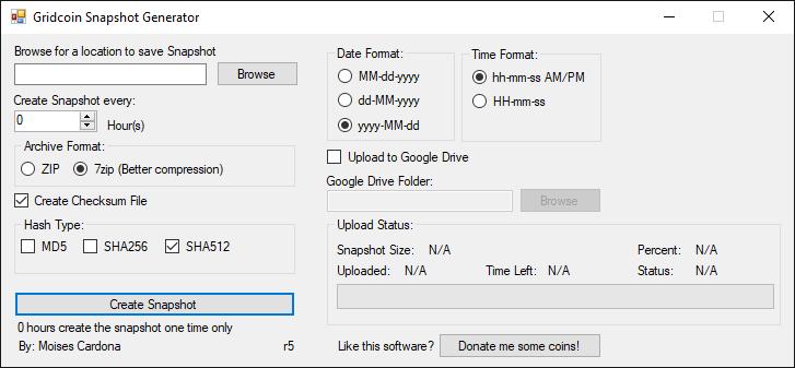 Gridcoin Snapshot Generator r5