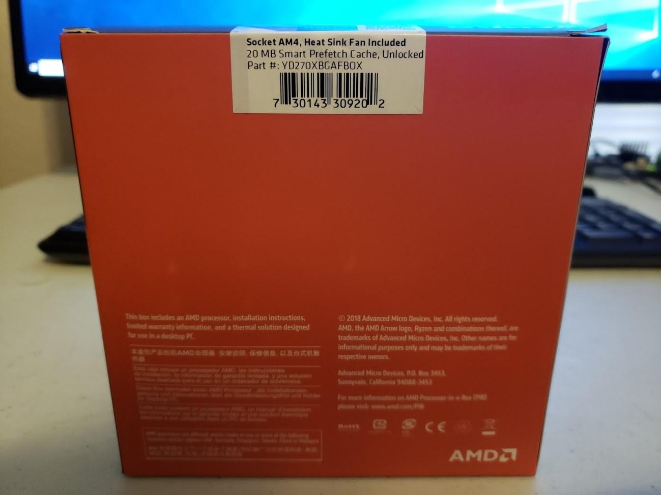 AMD Ryzen 7 2700X - 4