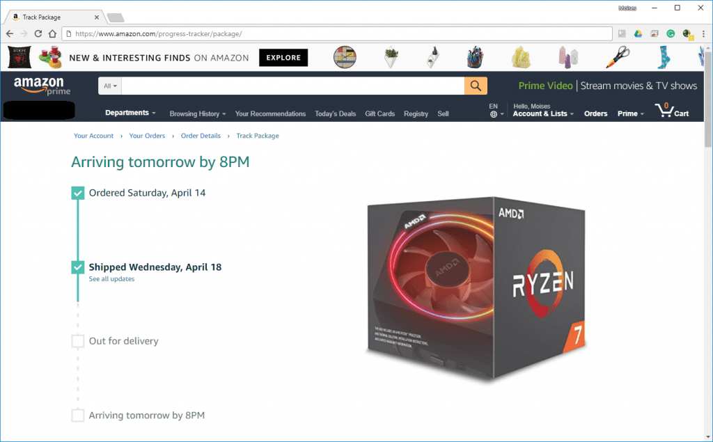 AMD Ryzen 7 2700X Shipped