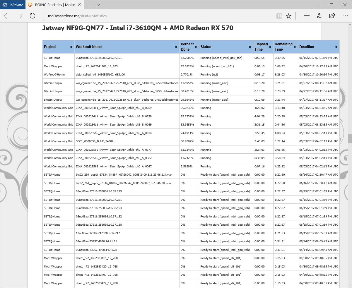 BOINC Tasks on Website 3