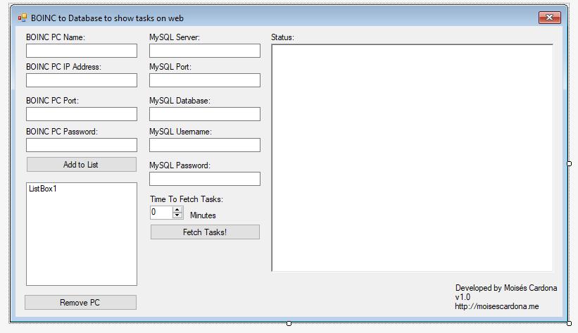 BOINC Tasks on Website 6