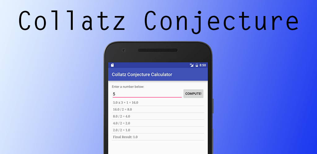 Collatz Conjecture Android App - 1