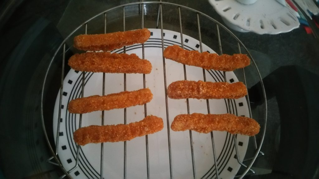 Cooking Chicken Fries on a Convection Oven - 1