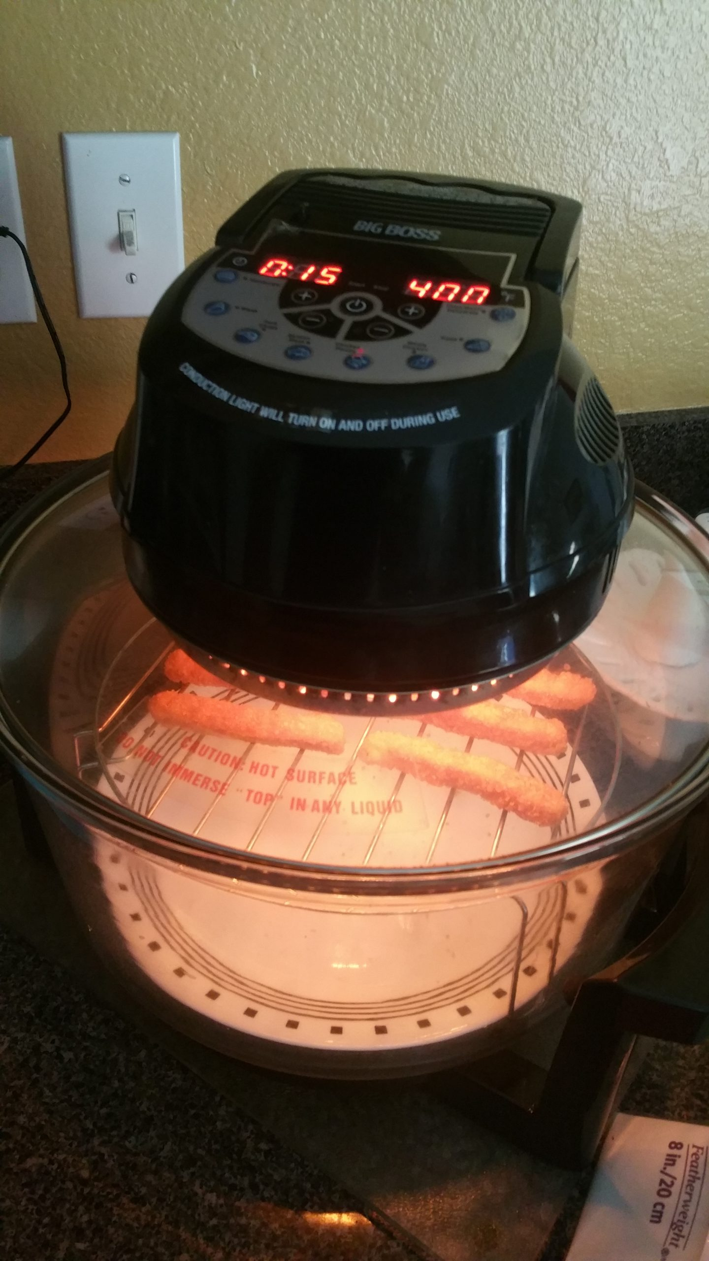 Cooking Chicken Fries on a Convection Oven - 2