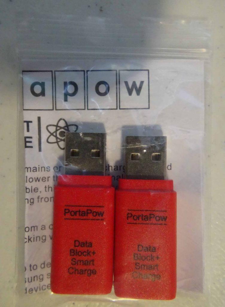 PortaPow Data Blocker USB Adapter with Smart Charge - 1