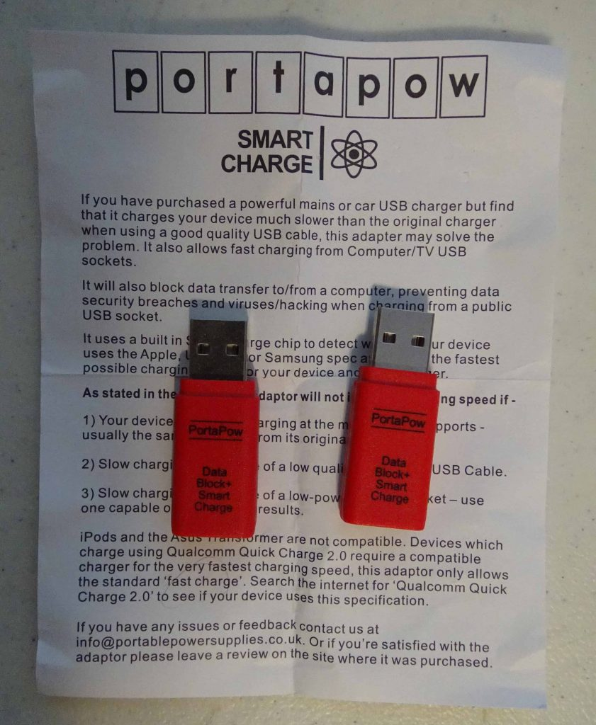 PortaPow Data Blocker USB Adapter with Smart Charge - 2