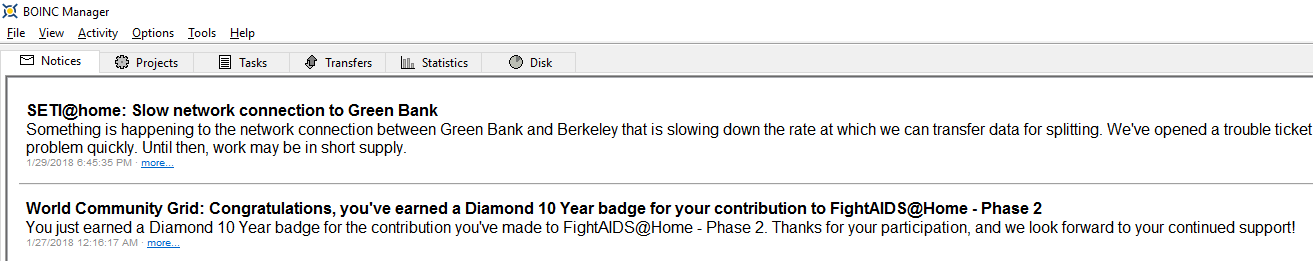 FightAIDS@Home Phase 2 Diamond 10 Year Badge BOINC Message