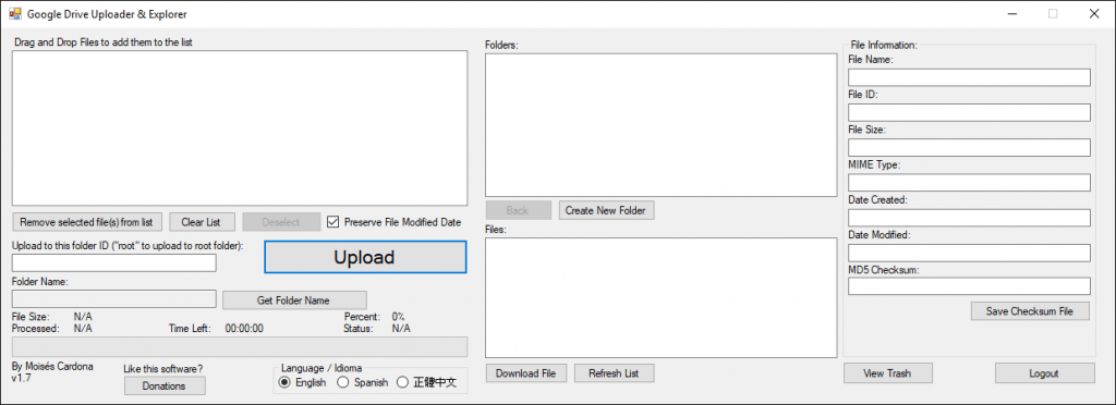 Google Drive Upload Tool v1.7 - 2