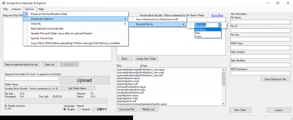 Google Drive Upload Tool v1.8.4 - 2
