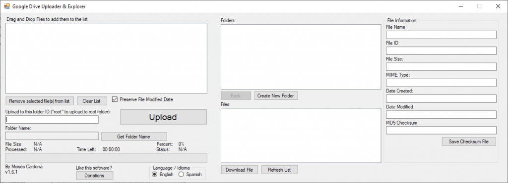 Google Drive Uploader & Explorer Tool v1.6.1 - English