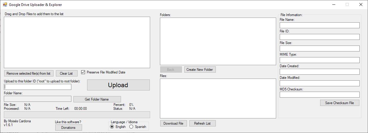 Google Drive Uploader & Explorer Tool v1.6.1 - English