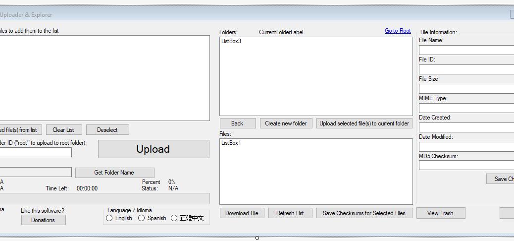 Google Drive Uploader & Explorer Tool v1.7