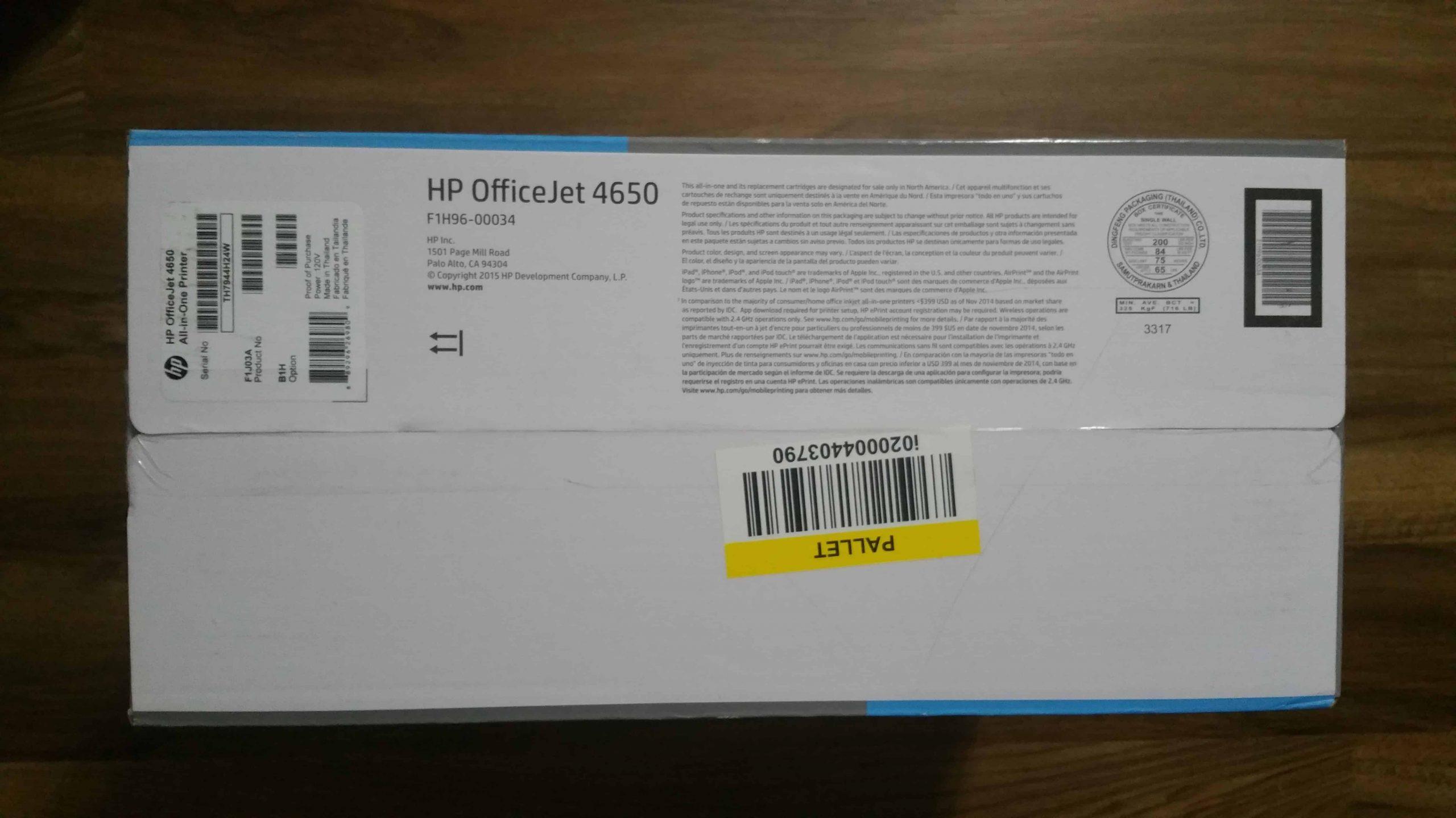 HP OfficeJet 4650 - 5